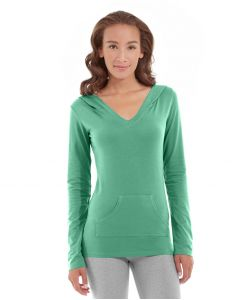 Eos V-Neck Hoodie-L-Green